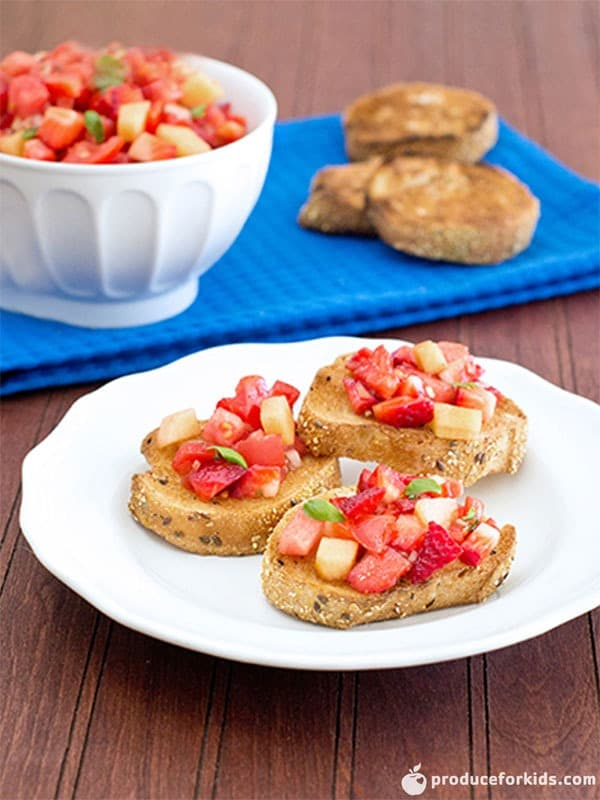 Berry Melon Bruschetta
