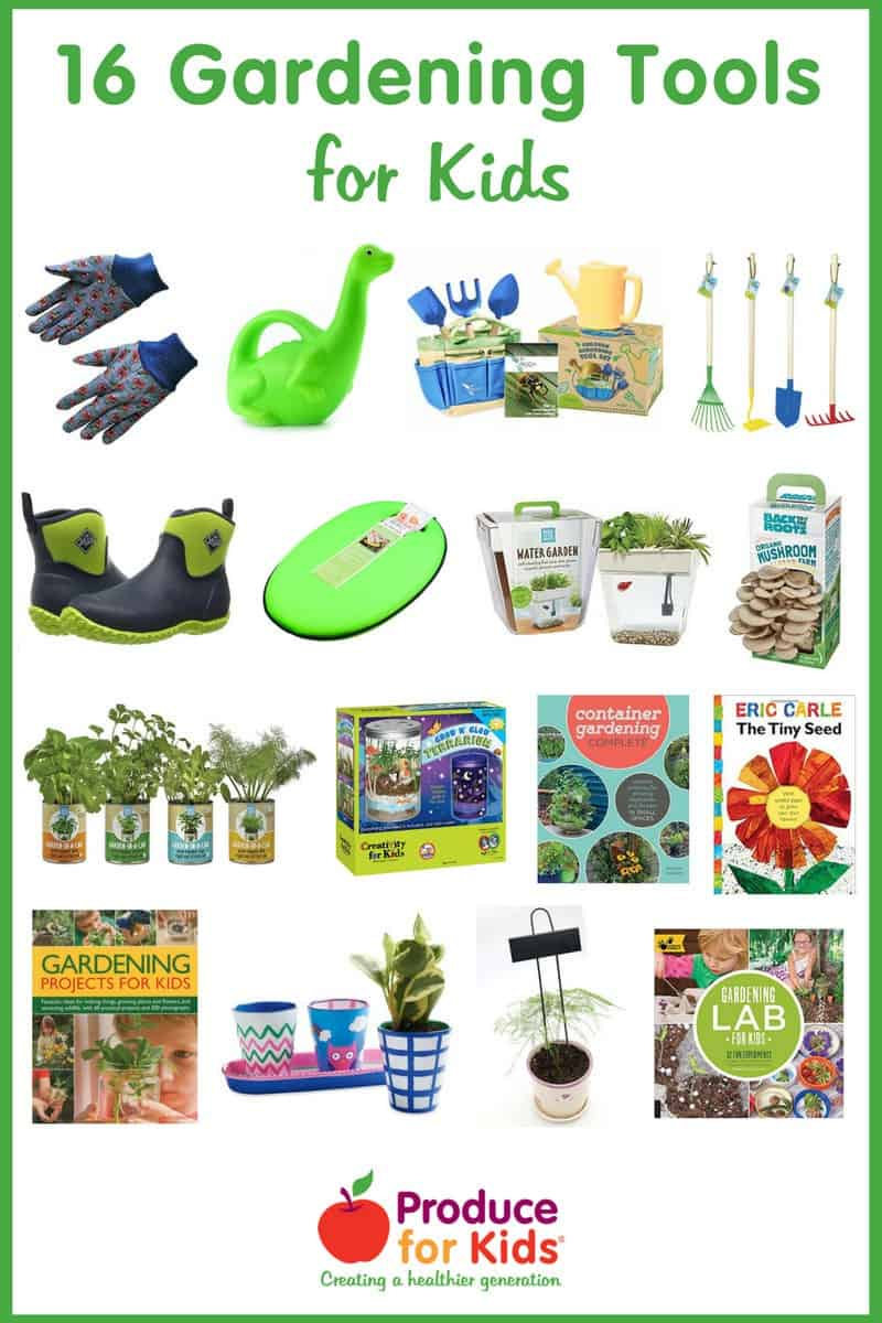 16 Gardening Tools - Whether you're a gardening pro or looking to start your family's first garden, there's something on this list to get your kids excited about gardening.