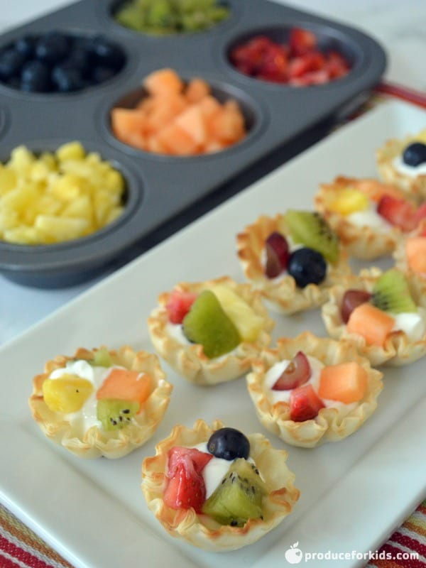 Mini Fruit & Yogurt Tartlets